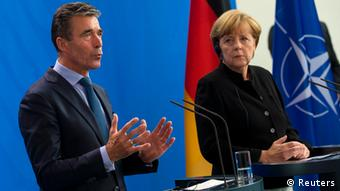 Anders Fogh Rasmussen & Angela Merkel in Berlin 02.07.2014