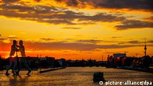 sunset on the river Spree
