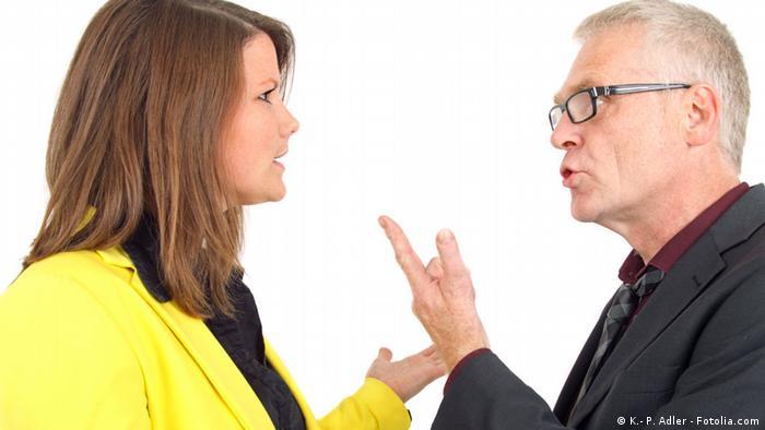 Ein Ehepaar streitet sich