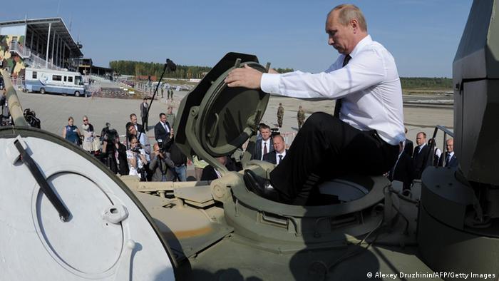 Putin in a tank 2011