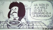 Veranstaltung im Iberoamerikanischen Institut Berlin anlässlich des 50. Geburtstags der Comicfigur Mafalda. Sie wurde 1964 als Comic Strip in der Wochenzeitschrift Primera Plana von dem argentinischen Zeichner Quino erfunden. Bild: 02.07.2014 , Eva Usi