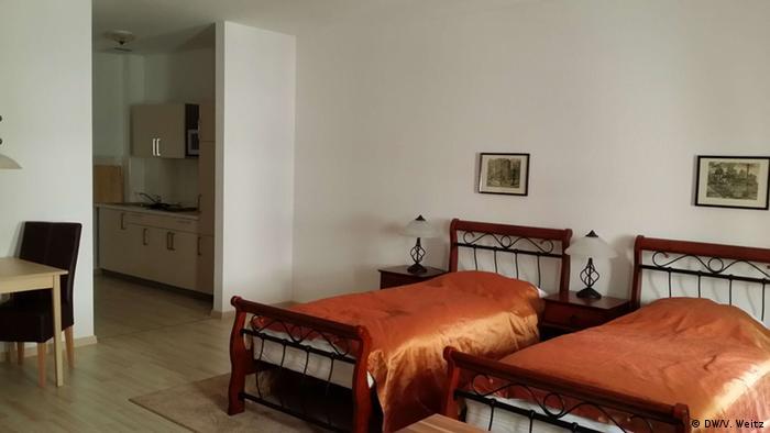 Двухместный номер в общежитии Дома Ломоносова во Фрайберге