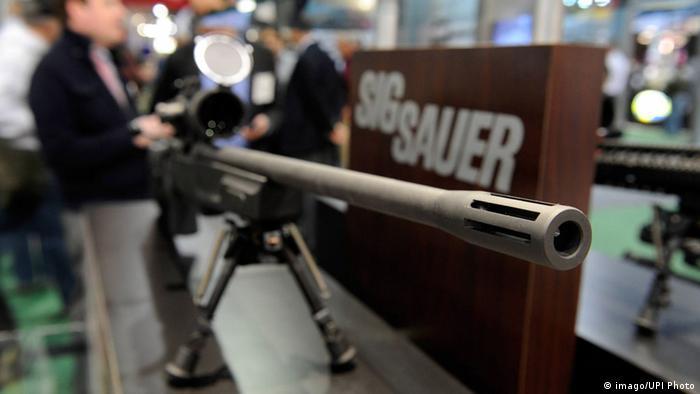 A Sig Sauer high-powered rifle