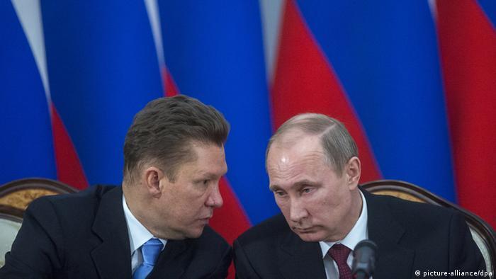 Алексей Миллер в беседе с Владимиром Путиным