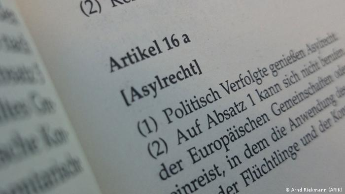 German asylum law is enshrined in its constitution (Arnd Riekmann (ARIK))