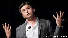 French economist Thomas Piketty spaeks during his seminar at the Almedalen political week in Visby on the island of Gotland Sweden Monday June 30, 2014. (AP Photo/Janerik Henriksson) SWEDEN OUT