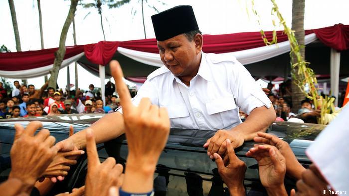 Wahlkampfveranstaltung des indonesischen Präsidentschaftskandidaten Prabowo Subianto (Reuters)