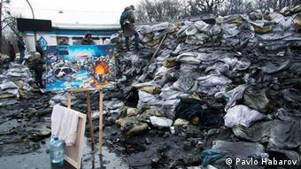 Марія Діордічук почала змальовувати українську революцію прямо на барикадах у січні 2014 року