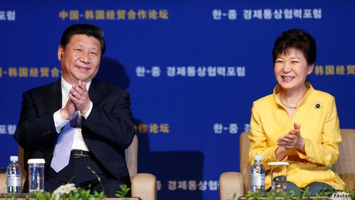 Xi Jinping mit Park 04.07.2014