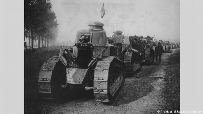 Tanque de guerra francês em 1917