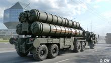 Das S-400 Triumf, russisches mobiles allwetterfähiges Langstrecken-Boden-Luft-Raketen-System, während des Tages der Unabhängigkeit in Minsk am 3.07.2014 Copyright: DW via Sergej Wilhelm, DW Russisch