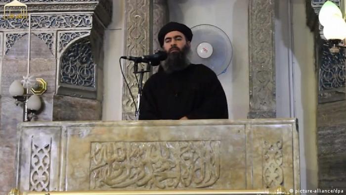 تصویر منتسب به ابوبکر بغدادی که صحت آن تایید قطعی نشده است.