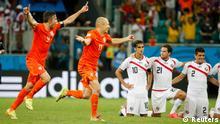 WM 2014 Viertelfinale Niederlande Costa Rica Jubel