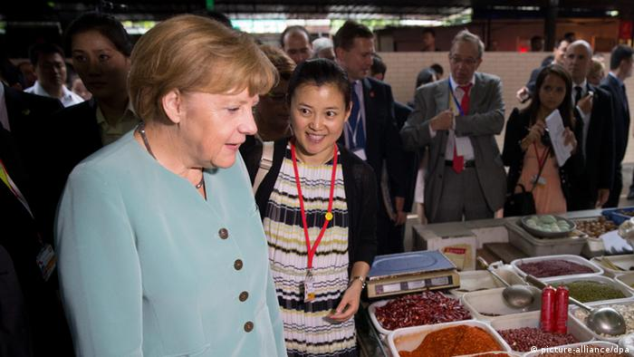 Angela Merkel in China (picture-alliance/dpa)