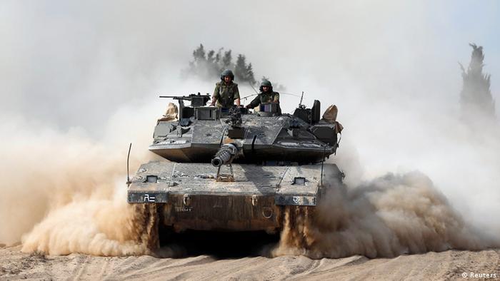 Wanajeshi wa Israel nje ya Ukanda wa Gaza. (07.07.2014)