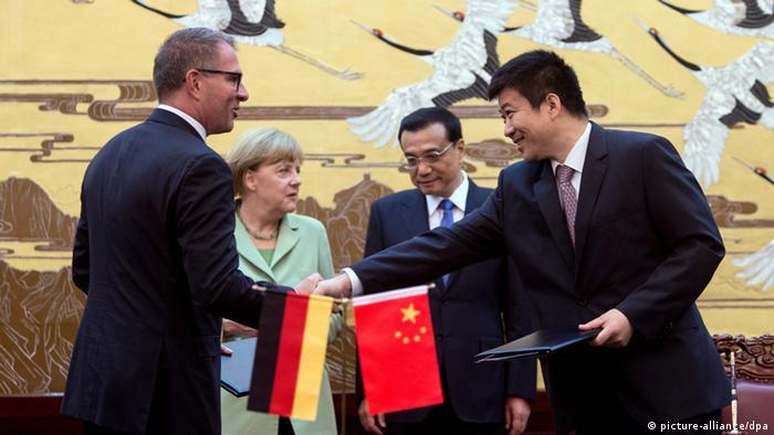 Vertragsunterzeichnung Lufthansa & Air China in Peking 07.07.2014