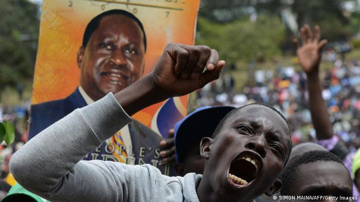 Protest in Kenia Raila Odinga 07.07.2014 (SIMON MAINA/AFP/Getty Images)