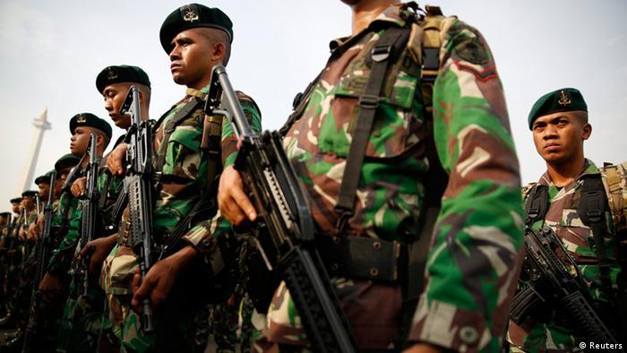 Jakarta Indonesien Militär Soldaten Wahl Präsidentschaftswahl 8.7.14