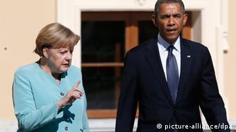 Symbolbild Angela Merkel Barack Obama NSA Affäre