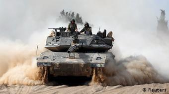 Israel Panzer vor Gaza 07.07.2014