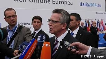 Thomas de Maiziere in Italy