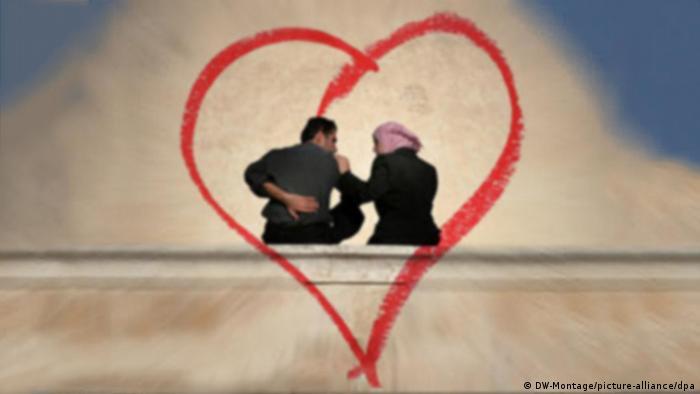 Symbolbild Valentinstag in der Arabischen Welt SCHLECHTE QUALITÄT (DW-Montage/picture-alliance/dpa)