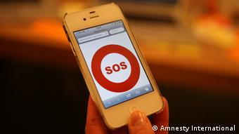 Panic Button App von Amnesty International
