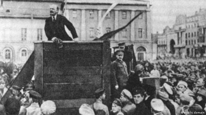 Lenin Rede vor Roter Armee Moskau 1920