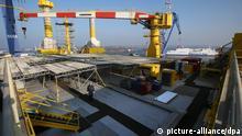 Werft von Nordic Yards in Rostock-Warnemünde