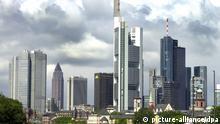 Bankenviertel in Frankfurt Hochhäuser Türme