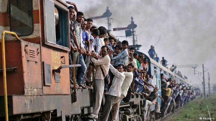 Indien Eisenbahn Passagiere