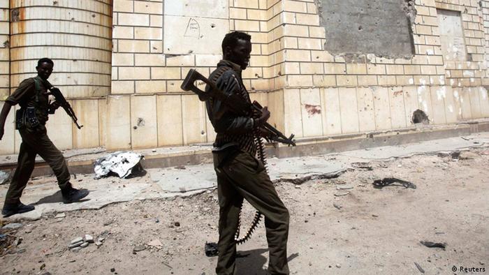 Mogadischu Somalia Regierungssoldaten Juli 2014