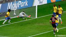 Fußball WM 2014 Halbfinale Deutschland Brasilien Tor