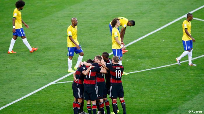 Fußball WM 2014 Halbfinale Deutschland Brasilien Jubel (Reuters) c4e3542a1378a