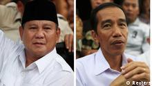 Indonesische Präsidentschaftskandidaten Widodo und Subianto
