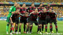 BELO HORIZONTE, MG - 08/07/2014: BRAZIL vs GERMANY, 1:7, - 1, Manuel Neuer, 16, Philipp Lahm, 20. Jerome Boateng, 5, Mats Hummels, 4. Benedikt Höwedes, 7, Bastian Schweinsteiger, 6. Sami Khedira, 13. Thomas Müller, 18. Toni Kroos, 8. Mesut Özil 11. Miroslav Klose, Brazil - July 8, 2014 FIFA World Cup, BRAZIL vs GERMANY 1:7 - FIFA WM, Brasilien gegen die Deutsche Fussball Nationalmannschaft - DFB team - Honorarpflichtiges Foto, Fee liable image, Copyright ¬© ATP / Fotoarena / restrictions for several countries apply Brazil, Argentina, NO sale