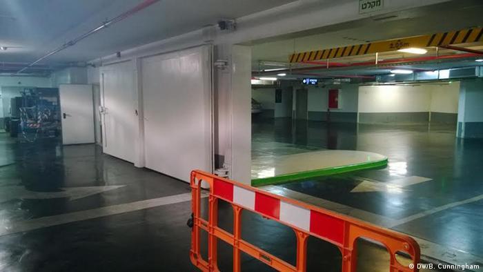 Tel Aviv parking garage that doubles as bomb shelter (Photo: Blair Cunningham)