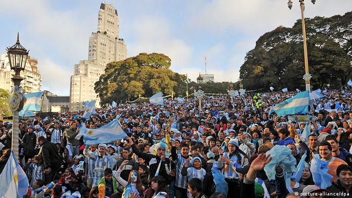 Argentinian fans in Buenos Aires