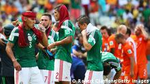 Mexican Players take a Drinks break