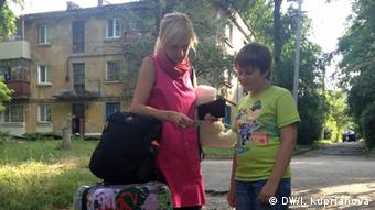 Наталья с сыном покинули Донецк