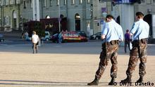 Polizisten auf der Straßen von Minsk