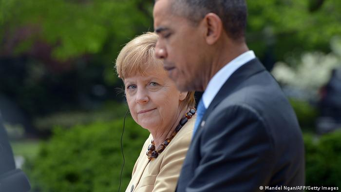 Merkel und Obama in Washington 02.05.2014 Foto: MANDEL NGAN/AFP/Getty Images