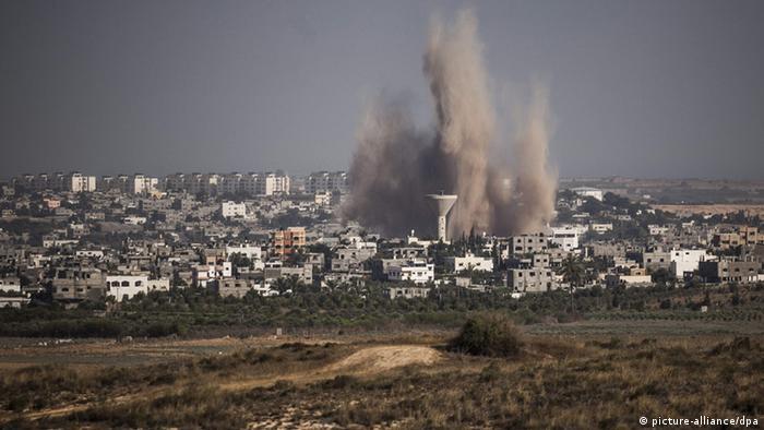 Luftangriffe auf Gaza am 10.07.2014 (Foto: picture-alliance/dpa)