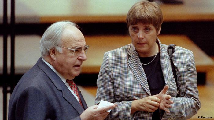 Merkel com Helmuth Kohl
