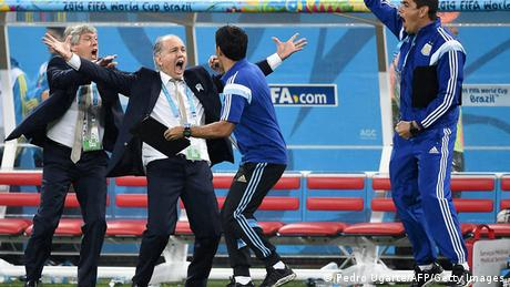 Argentine Management celebrates after semifinal success at World Cup