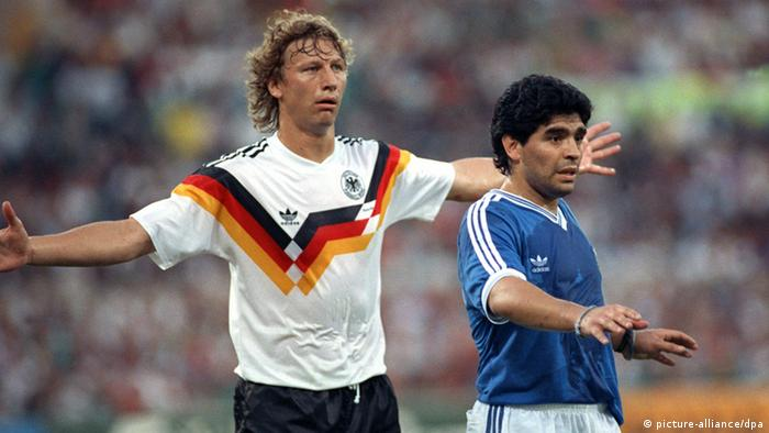 Guido Buchwald with Diego Maradona