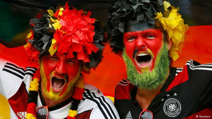 German fans with painted faces