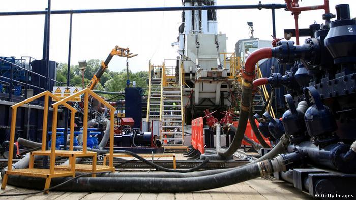 Planta de extracción de gas a través de fracking en Inglaterra. (Imagen de archivo)