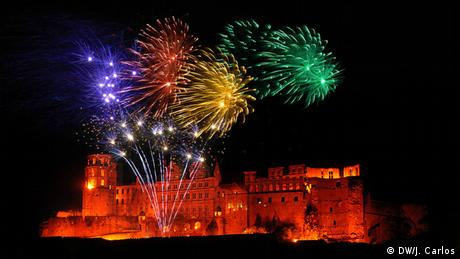 Show de fogos sobre Heidelberg