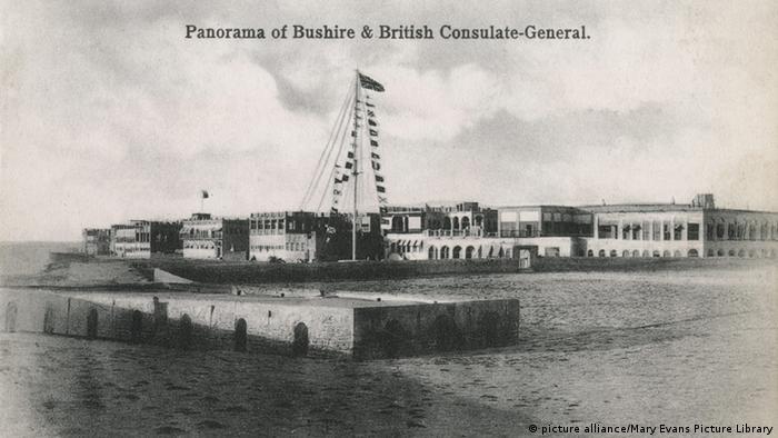 کنسولگری بریتانیا در بوشهر. تاریخ عکس: ۱۹۰۳ میلادی.